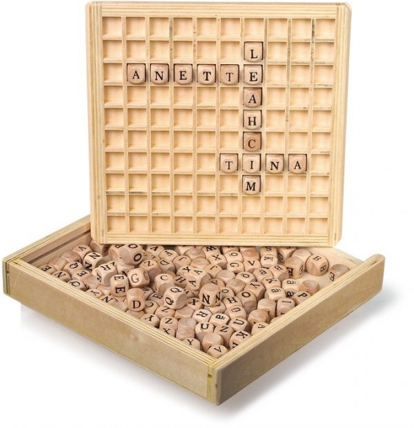 Wooden Creating Words Game Boggle