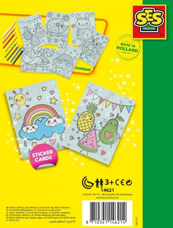 SES Creative - Colour Glitter Cards