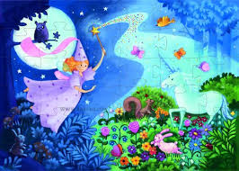 The Fairy and the Unicorn 36 piece jigsaw puzzle by Djeco