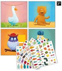 Create Animal Pictures with Stickers by Djeco
