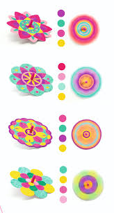Make your own Flowers Spinning Tops by Djeco