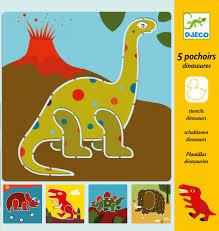 Dinosaur Stencils Djeco