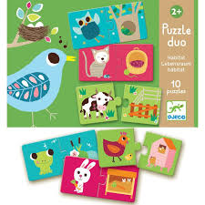 Djeco Duo Habitat Two piece jigsaw puzzles