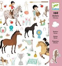 Djeco - 160 horse stickers