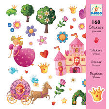 Djeco 160 Princess Stickers
