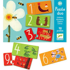 Djeco Duo Numbers 2 piece jigsaw puzzles