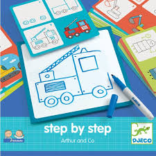 Step by Step learn how to Draw Arther and Co by Djeco