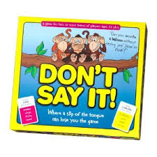 Don't Say It, Taboo for children. Family Games