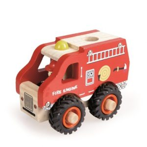 Wooden Fire Engine Truck for 2 year olds
