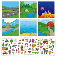 First Reusable Sticker Pictures from Galt Toys
