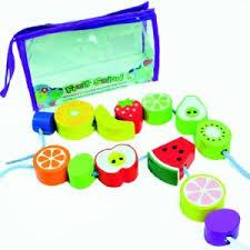 Fruit Salad Wooden Threading Beads
