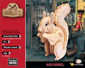 Gepettos Squirrel wooden 3D puzzle