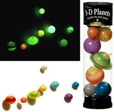 Glow in the Dark 3D planets mobile