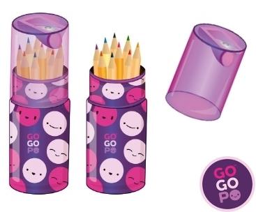 GoGoPo Colouring Pencils in a Tube