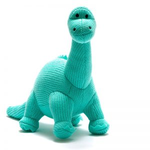 """Knitted Diplodocus Soft Toy """"Dippy"""""""