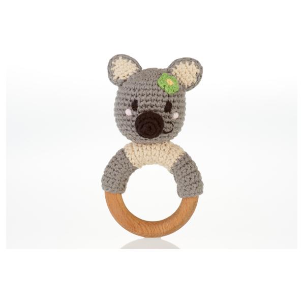 Koala Bear Teething Ring Rattle – Fairtrade