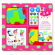 Make Felt Cars with Stickers by Djeco