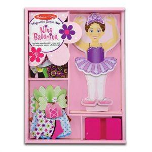 Melissa and Doug- Magnetic Dress-Up Doll : Nina Ballerina