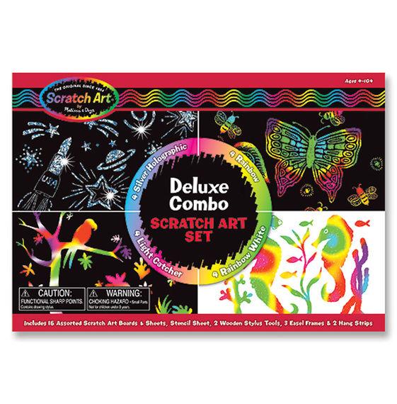 Melissa and Doug Scratch Art – Deluxe Combo Box