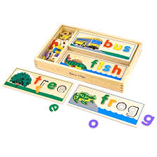 Melissa and Doug See and Spell wooden educational toy for three and four year olds