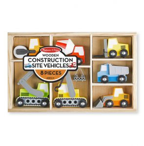 Melissa and Doug Wooden Construction Vehicles
