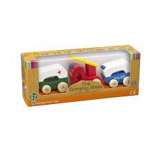 Orange Tree Toys - Wooden Emergency Vehicles