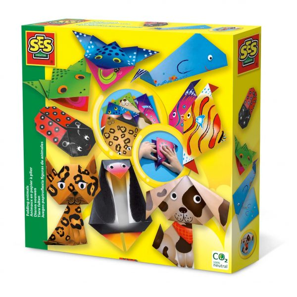 Make your own Origami Animals with this kit from SES Creative. Carbon neutral toy