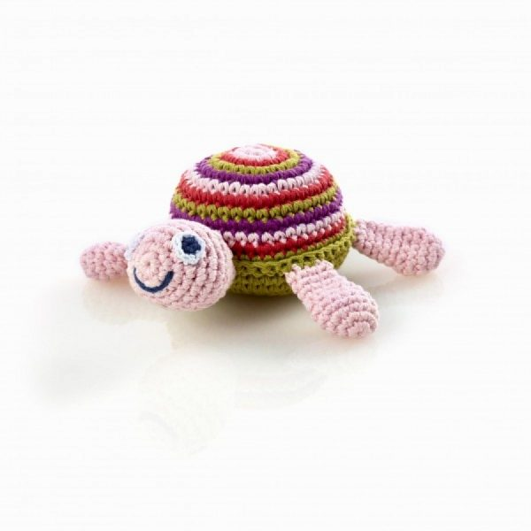Crocheted Turtle Rattle from Pebble Baby Gifts