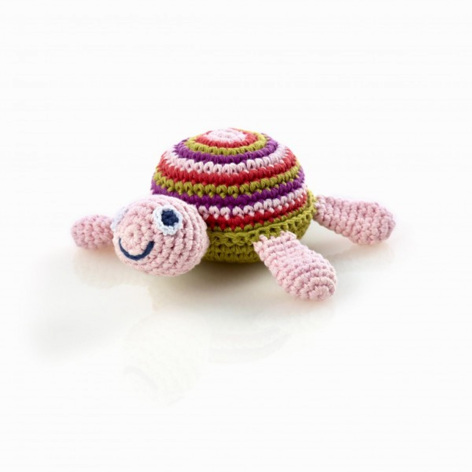 Pink Turtle Rattle – Fair Trade