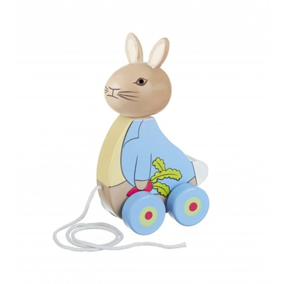 Wooden Pull Along Peter Rabbit for 1 year olds