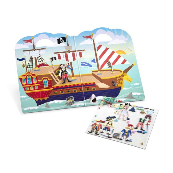 Melissa and Doug Reusable Pirate Puffy Stickers