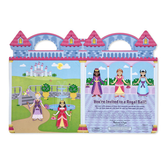 Melissa and Doug Reusable Princess Puffy Stickers