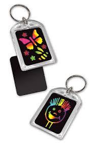 Melissa and Doug Scratch Art Key Rings - Party Pack