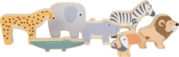 Stacking Wooden Safari Animals from Small Foot Design toys