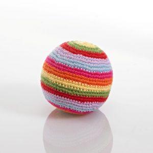 Stripey Crochet Baby Ball Rattle - Fair Trade