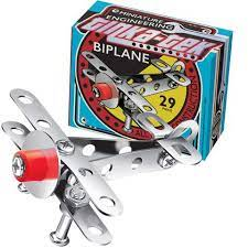 Tinka Tek Metal Construction Kit Biplane