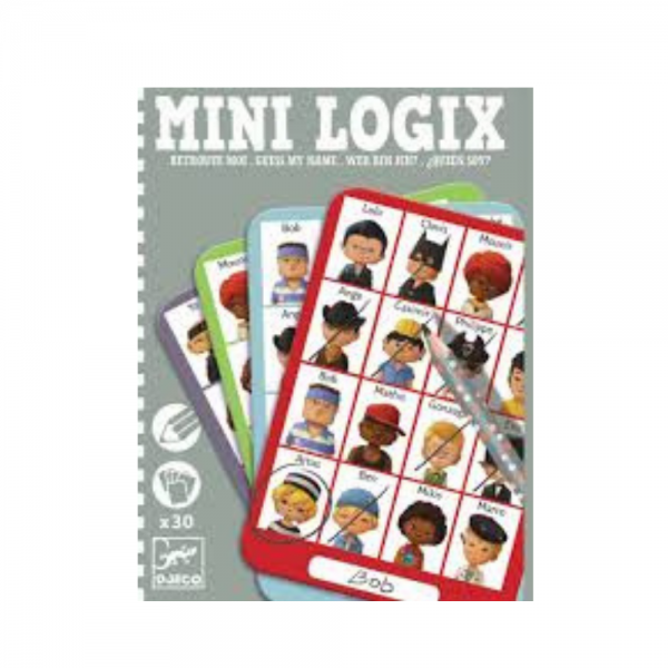 Guess my Name, Who am I travel game by Djeco Mini Logix
