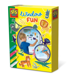 Draw on windows and use the jungle window stickers with this Jungle themed Window Fun Kit