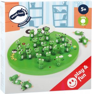 Wooden Frog Solitaire Board Game