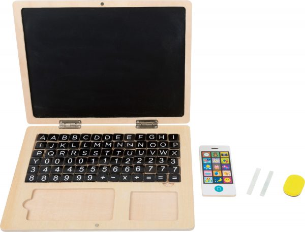 Wooden Laptop with Magnetic Chalk Board and Letters from Small Foot Design Toys