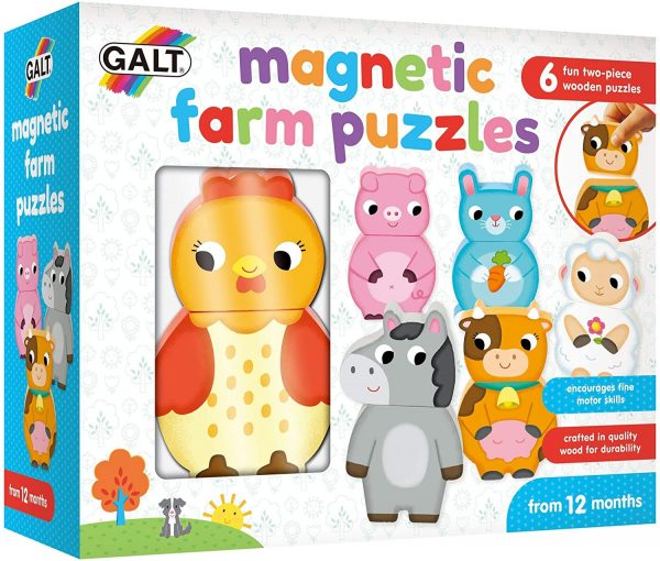 Wooden Magnetic Farm Animals from Galt Toys