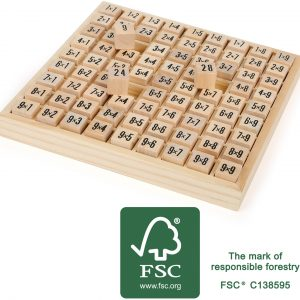 Wooden Multiplication Square