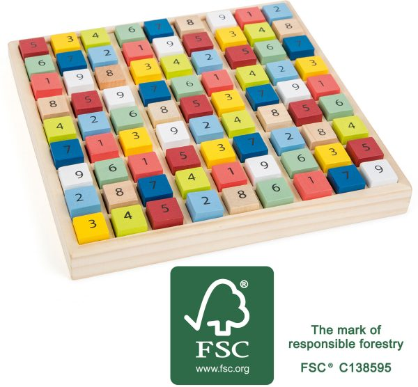 Wooden Sudoku Board Game from Small Foot Design Toys. Wood sourced sustainably