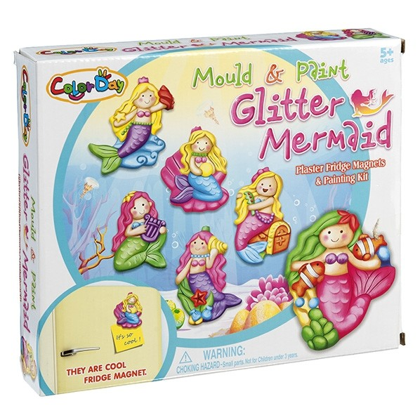 Arts and Crafts : Mould and Paint Glitter Mermaids