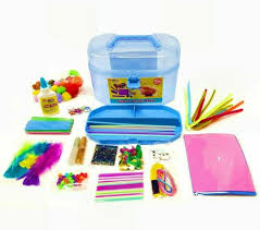 Craft Caddy, a craft box full of art and craft supplies