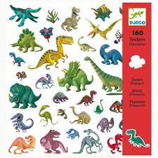 160 Dinosaur Stickers made by Djeco