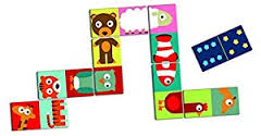 Djeco 28 piece animal dominoes game for small children