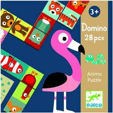 Djeco 28 piece animal dominoes game