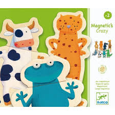 Djeco Crazy Magnetic Animal Puzzles