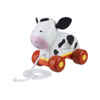 Orange Tree Toys - Wooden Pull Along Cow